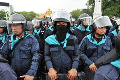 La police anti-émeute Images libres de droits