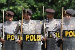La police anti-émeute Images stock