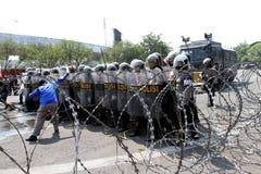 La police anti-émeute Photo libre de droits