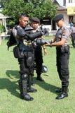 La police anti-émeute Photos libres de droits