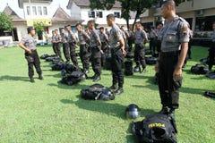 La police anti-émeute Image libre de droits