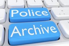 La police archive le concept Photos stock