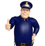 La police avec des pouces pose  Photos stock