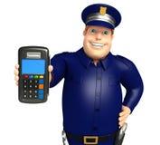 La police avec l'échange usine Photo stock