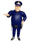 La police avec la prise pose Image stock