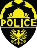 La police badge Images libres de droits