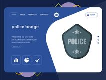 la police badge la conception de calibre de site Web de page d'atterrissage Photos libres de droits