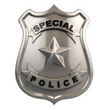 La police badge d'isolement Images stock