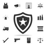 La police badge l'icône Ensemble détaillé d'icônes d'élément de police Conception graphique de qualité de la meilleure qualité Un illustration libre de droits
