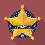 La police badge l'icône Photo stock