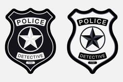 La police Badge le signe monochrome simple illustration stock