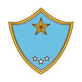 la police bleue badge l'image d'icône Photographie stock libre de droits
