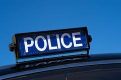 La police de cru signe image stock