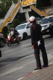 La police de la circulation à l'école images stock