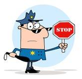 La police de la circulation commandent Image libre de droits