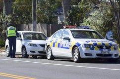 La police de la circulation commandent Photo stock
