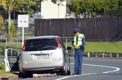 La police de la circulation commandent Photographie stock libre de droits