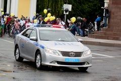 La police de la circulation Patrouille de route patrouille de route Photo libre de droits