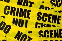 La police enregistre le fond sur bande Photographie stock libre de droits