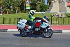 La police fait du vélo Photo stock