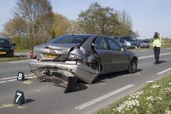La police fait le ` s de photo après un accident de la circulation Photos stock