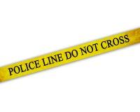 La police jaune enregistre sur bande illustration stock