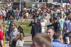 La police le jour de la victoire Image libre de droits