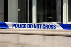 LA POLICE NE CROISE PAS Photos stock