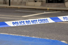 LA POLICE NE CROISE PAS Image libre de droits