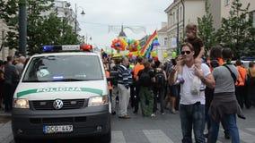 La police presse l'événement gai banque de vidéos