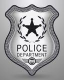 La police réaliste Badge Illustration d'isolement par vecteur Photographie stock