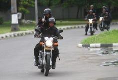 La police s'ameute la simulation Photographie stock