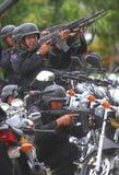 La police s'ameute la simulation Photo stock