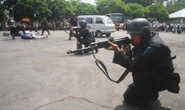 La police s'ameute la simulation Photo libre de droits