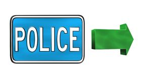 La police signe Image libre de droits