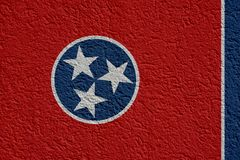 La politique d'état d'USA ou concept d'affaires : Tennessee Flag Wall With Plaster, texture illustration libre de droits
