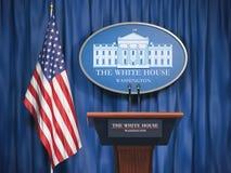La politique de la Maison Blanche et du président du conce des Etats-Unis Etats-Unis illustration stock