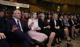 La politique de la Roumanie - le congrès de parti social-démocrate images libres de droits