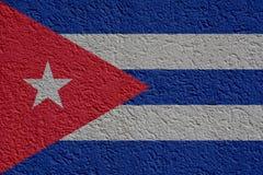 La politique du Cuba ou concept d'affaires : Mur cubain de drapeau avec le plâtre, texture illustration libre de droits