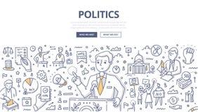 La politique gribouille le concept illustration libre de droits