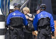 La polizia arresta il dimostrante Immagini Stock Libere da Diritti
