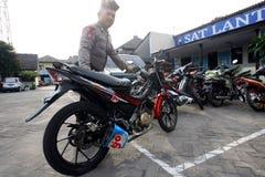 La polizia arresta il motociclo Fotografie Stock
