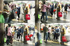 La polizia arresta la sequenza Immagine Stock Libera da Diritti