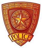 La polizia badge Fotografie Stock Libere da Diritti