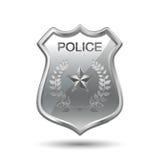 La polizia badge Fotografia Stock Libera da Diritti