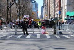 La polizia barrica, marzo per le nostre vite, protesta, violenza armata, NYC, NY, U.S.A. Fotografia Stock