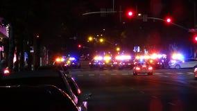 La polizia blocca Santa Monica Blvd & Lincoln Blvd Fotografie Stock Libere da Diritti