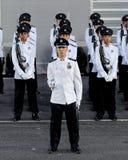 La polizia custodire-de-honor il contingente a NDP 2009 Fotografia Stock
