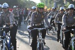La polizia della bicicletta Fotografie Stock Libere da Diritti
