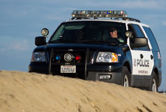 La polizia della Huntington Beach tira la pattuglia in secco Immagine Stock